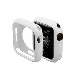 Apple Watch 44mm | Apple Watch (44mm) - Pro+ Silikone Taske / Cover - Hvid - DELUXECOVERS.DK