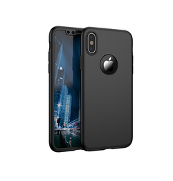 iPhone XS Max - Deux™ 360° Fuld Cover M. Beskyttelsesglas - Sort - DELUXECOVERS.DK
