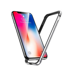 iPhone XR - Deluxe™ 360° Air Edge Aluminum Bumber - Sølv - DELUXECOVERS.DK