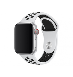 Apple Watch 42mm | Apple Watch (42-44mm) - 4Run™ Silikone Løbe Sportsrem - Hvid - DELUXECOVERS.DK