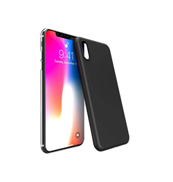 iPhone XS Max | iPhone XS Max - Novo Frosted Matte Slim Silikone Cover - Sort - DELUXECOVERS.DK