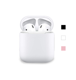 Airpods | AirPods (1/2) - DeLX Premium Silikone Cover - Hvid - DELUXECOVERS.DK
