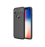 iPhone XS Max | iPhone XS Max - Auto Focus ProHD Læder Cover - Sort - DELUXECOVERS.DK