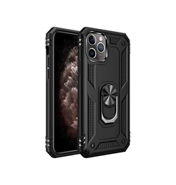 iPhone 12 Pro Max | iPhone 12 Pro Max - NX Pro™ Armor Cover m. Ring Holder - Sort - DELUXECOVERS.DK