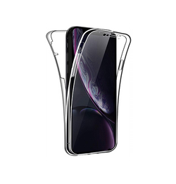 iPhone XR - Full Cover 360 Silikone - Gennemsigtig - DELUXECOVERS.DK