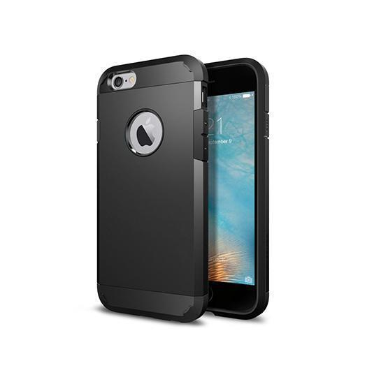 iPhone 6 / 6s | iPhone 6/6s - REALIKE© Hybrid Armor Håndværker Cover - Sort - DELUXECOVERS.DK