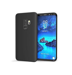 Samsung Galaxy S9+ | Samsung Galaxy S9+ - Original Liquid Silikone Cover - Sort - DELUXECOVERS.DK