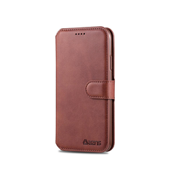 iPhone 11 Pro | iPhone 11 Pro - AZNS Diary Læder Cover Etui M. Pung - Brun - DELUXECOVERS.DK