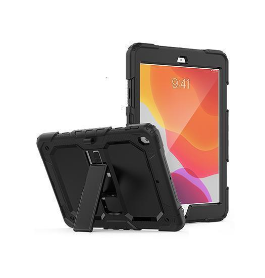 "iPad 7 - 10.2"" - ToughCase™ 360° Beskyttelse Etui / Cover - Sort - DELUXECOVERS.DK"