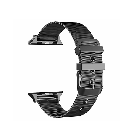 Apple Watch 38mm | Apple Watch (38-40MM) -  Milanese Original Loop Rem / Urrem - Sort - DELUXECOVERS.DK