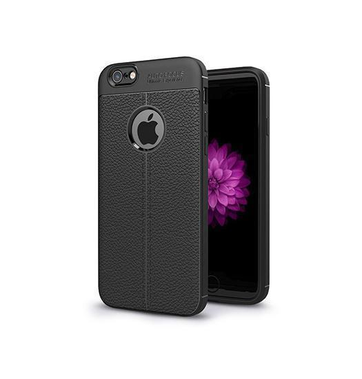 iPhone 6/6s - Auto Focus ProHD Læder Cover - Sort - DELUXECOVERS.DK