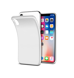 iPhone X/Xs - PRO+ Design Mat Slim Silikone Cover - Hvid - DELUXECOVERS.DK