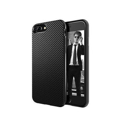 iPhone 7/8 Plus - MaxGear Carbon Fiber Beskyttelse Cover - Sort - DELUXECOVERS.DK