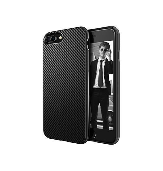 iPhone 7/8 Plus | iPhone 7/8 Plus - MaxGear Carbon Beskyttelse Cover - Sort - DELUXECOVERS.DK