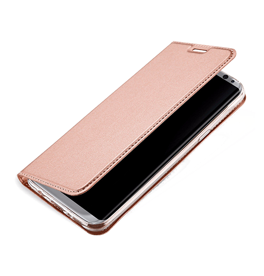 Samsung Galaxy S8+ | Samsung Galaxy S8+ (Plus) - NX Læder Flipcover Etui - Rosa Gold - DELUXECOVERS.DK