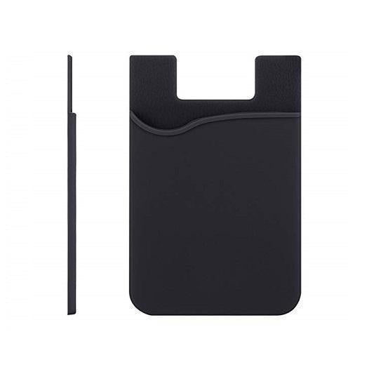 iPhone X | iPhone X/Xs - Silikone stick-on pung kort holder v2.0 - DELUXECOVERS.DK