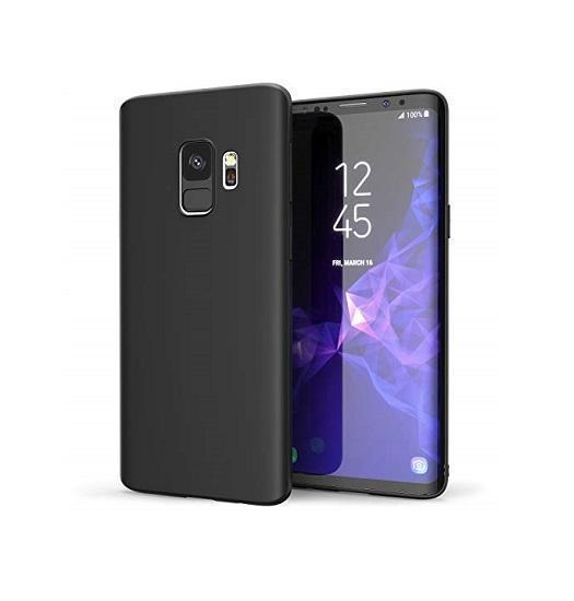 Samsung Galaxy S9 | Samsung Galaxy S9 - Original Liquid Silikone Cover - Sort - DELUXECOVERS.DK