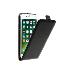 iPhone 7/8 Plus | iPhone 7/8 Plus - Diary Vertikal Læder FlipCover Etui - Sort - DELUXECOVERS.DK