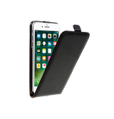 iPhone 7 / 8 | iPhone 7/8/SE - Diary Vertikal Læder FlipCover Etui - Sort - DELUXECOVERS.DK