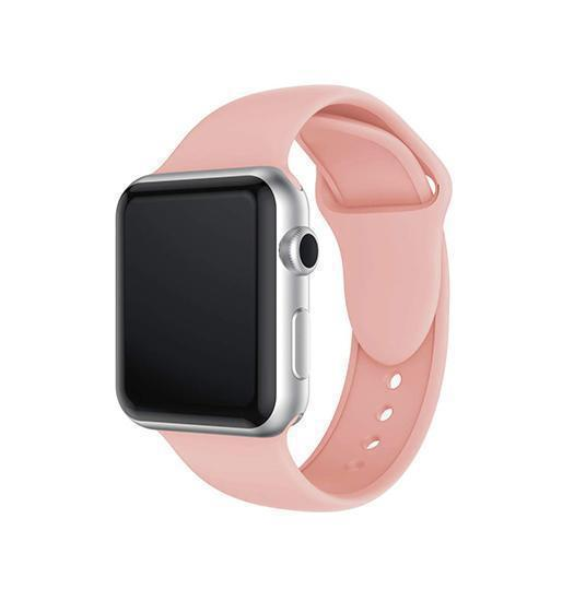 Apple Watch 38mm | Apple Watch 38-40mm -  PRO+ Silikone Sportsrem - Pink Sand - DELUXECOVERS.DK
