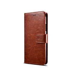 iPhone 6 Plus / 6s Plus | iPhone 6/6s Plus - Retro Diary Læder Cover Etui M. Pung - Brun - DELUXECOVERS.DK