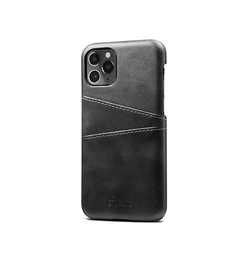 iPhone 11 Pro - NX Design Læder Bagcover M. Pung - Sort - DELUXECOVERS.DK