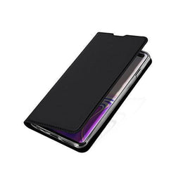 Samsung Galaxy S10+ (Plus) - NX Læder Flipcover Etui - Sort - DELUXECOVERS.DK