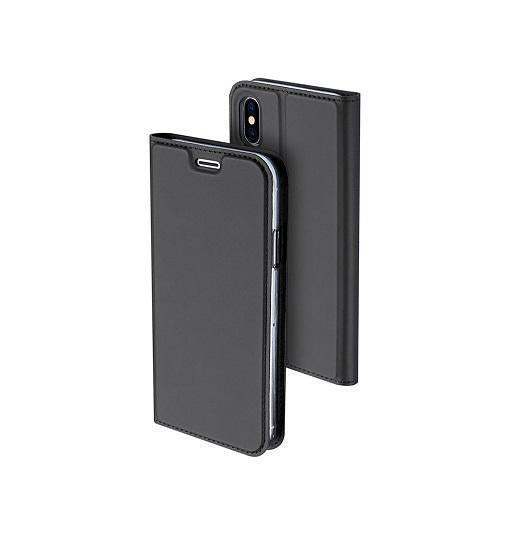 iPhone X NX Læder Flipcover Etui - Sort - DELUXECOVERS.DK