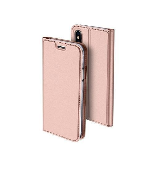 iPhone X | iPhone X/Xs - Vanquish Pro Series Flipcover Etui - RoseGuld - DELUXECOVERS.DK