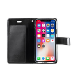 iPhone X | iPhone X/Xs - Mercury Fold Læder Cover M. Pung - Sort - DELUXECOVERS.DK