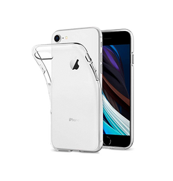 iPhone 7/8/SE - DeLX™ Ultra-Slim Silikone Cover - Gennemsigtig - DELUXECOVERS.DK