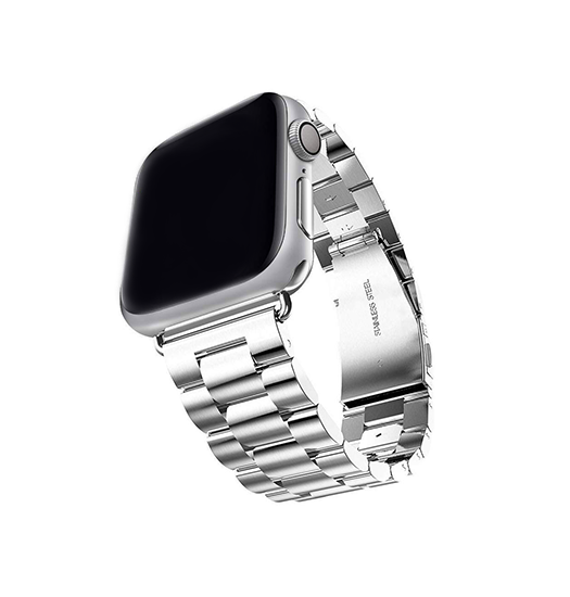 Apple Watch 38mm | Apple Watch (38-40MM) - CNC Pro Rustfrit Stål Urlænke - Sølv - DELUXECOVERS.DK