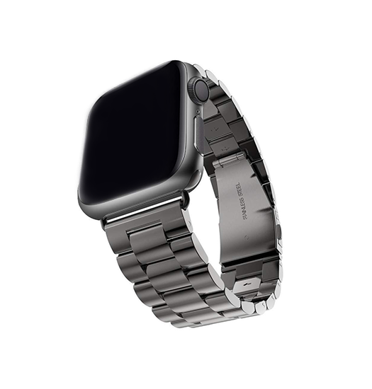 Apple Watch 42mm | Apple Watch (42-44mm) -  CNC Pro Rustfrit Stål Urlænke - Sort - DELUXECOVERS.DK