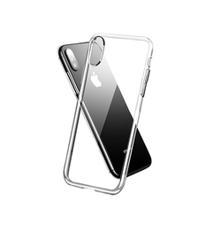 iPhone X/Xs - Original 0.3 Silikone Cover - Gennemsigtig - DELUXECOVERS.DK