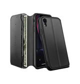 iPhone XR | iPhone XR - Realike Folio Etui m. Kortholder - Sort - DELUXECOVERS.DK