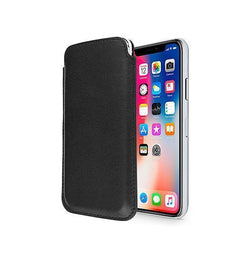 iPhone X/Xs - Infinity Push-Up Lomme Etui V.2.0 - Sort - DELUXECOVERS.DK