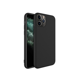 iPhone 11 Pro - Novo Frosted Matte Slim Silikone Cover - Sort - DELUXECOVERS.DK