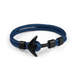 Apple Watch Tilbehør | Deluxe™ - Nylon Anker Armbånd - Onesize - Navy - DELUXECOVERS.DK