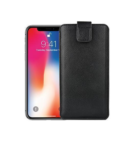 iPhone XR | iPhone XR - Verona Læder Sleeve Etui - Black Onyx - DELUXECOVERS.DK