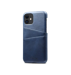 iPhone 11 | iPhone 11 - NX Design Læder Bagcover M. Pung - Blå - DELUXECOVERS.DK