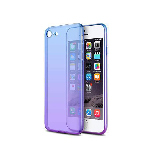 iPhone 7 / 8 | iPhone 7/8/SE - Valkyrie Gradient Silikone Cover - Lilla/Blå - DELUXECOVERS.DK