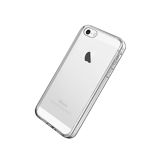 iPhone 5 / 5S / SE | iPhone 5/5s/SE - Original 0.3 Silikone Cover - Gennemsigtig - DELUXECOVERS.DK