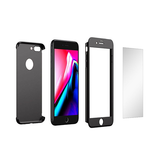 iPhone 7/8 Plus | iPhone 7/8 Plus - Deux 360 Slim Cover M. Panserglas - Sort - DELUXECOVERS.DK