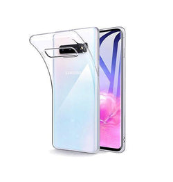 Samsung Galaxy S10+ | Samsung Galaxy S10+ (Plus) - Ultra Silikone Cover - Gennemsigtig - DELUXECOVERS.DK