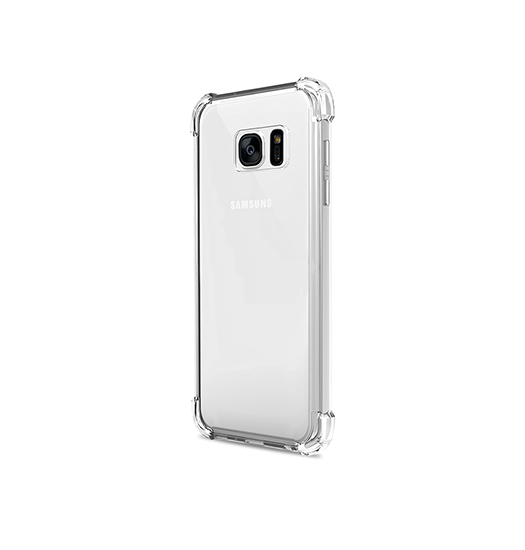 Samsung Galaxy S7 | Galaxy S7 - Silent Stødsikker Silikone Cover - Gennemsigtig - DELUXECOVERS.DK