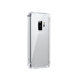 Samsung Galaxy S9+ | Galaxy S9+ - Silent Stødsikker Silikone Cover - Gennemsigtig - DELUXECOVERS.DK