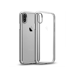 iPhone XS Max | iPhone XS Max - BASEUS Silikone Hybrid Cover - Sølv - DELUXECOVERS.DK