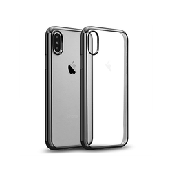iPhone X | iPhone X/Xs - BASEUS Silikone Hybrid Cover - Sort - DELUXECOVERS.DK