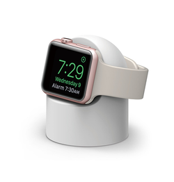 Apple Watch - Night Stand Oplader Stander / Ladedock - Hvid - DELUXECOVERS.DK
