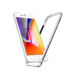 iPhone 7 / 8 | iPhone 7/8/SE - Deluxe™ 360° Air Edge Aluminum Bumber - Sølv - DELUXECOVERS.DK